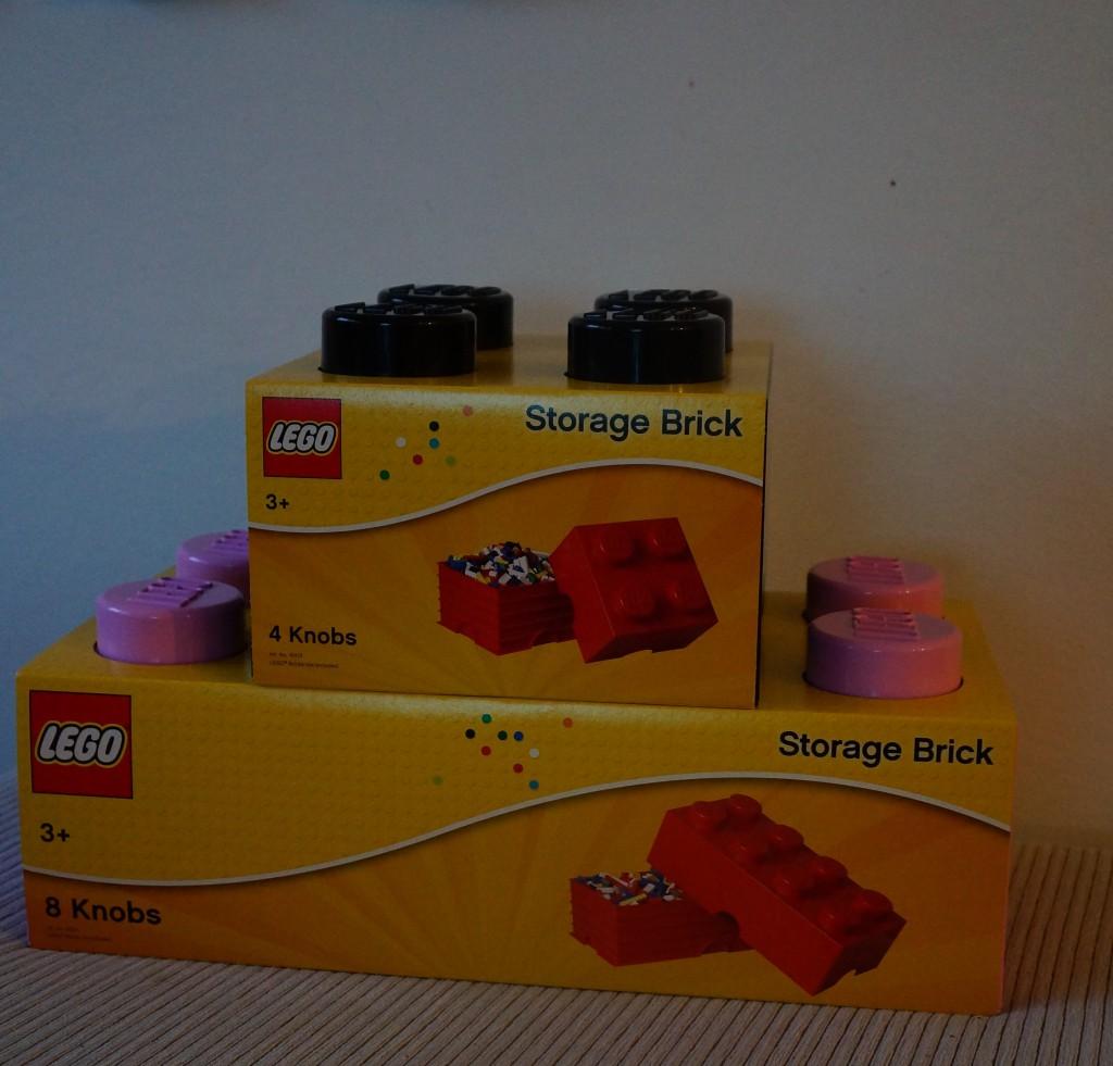 Lego opbevaringskasser ved ankomst