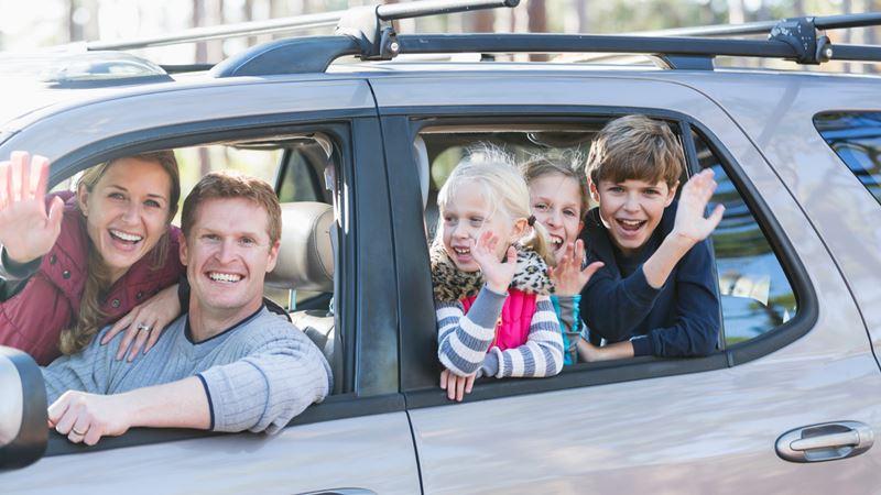 Så er familien klar til at køre sydpå