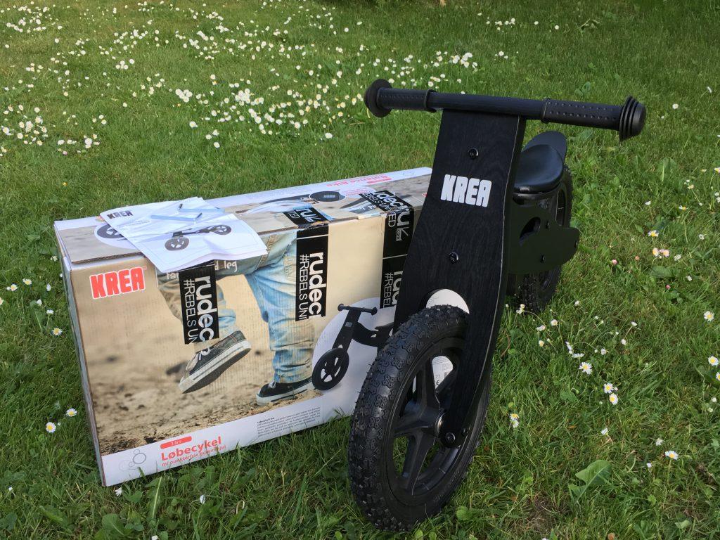 Her ses løbecyklen da den blev samlet.