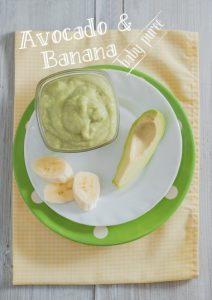 Sund babymos med avocado og banan
