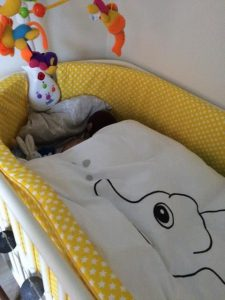 quilts of denmark babydyne i brug