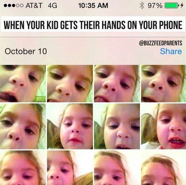 barn lånt mors telefon