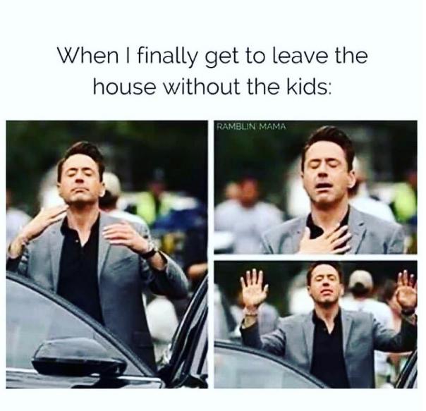 komme ud fra huset uden børn