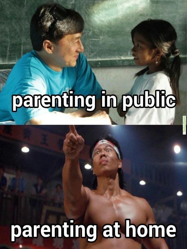 opdragelse i det offentlige vs. derhjemme