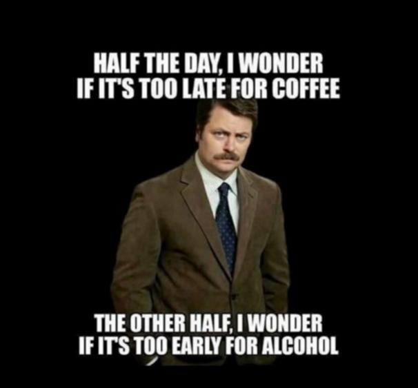 kaffe eller alkohol