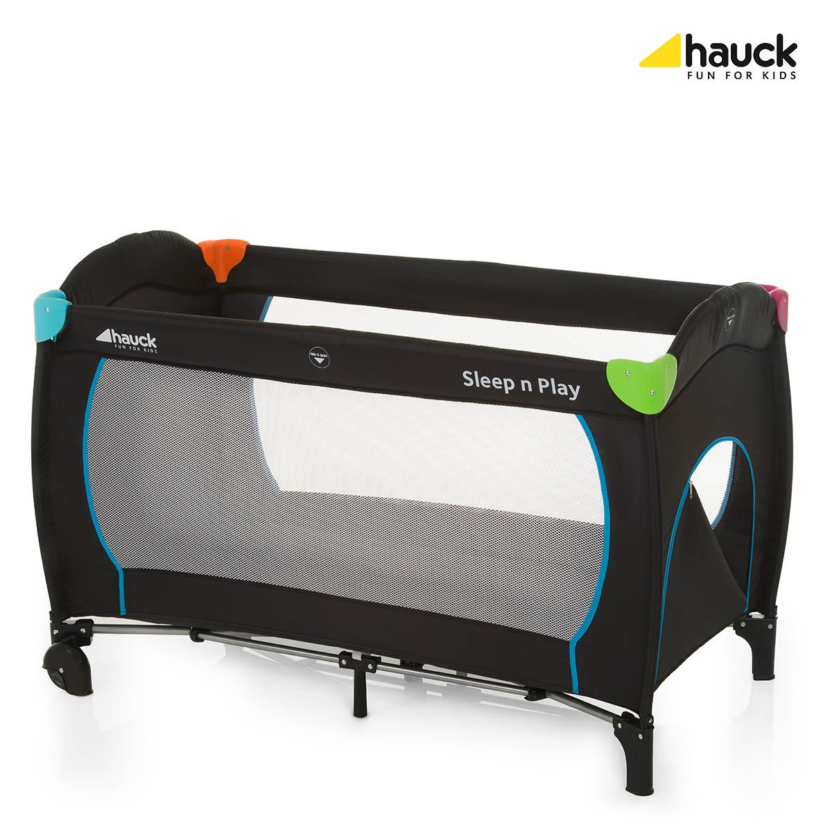 Hauck Sleep N Play Go Plus Weekendseng, multifarvet/sort