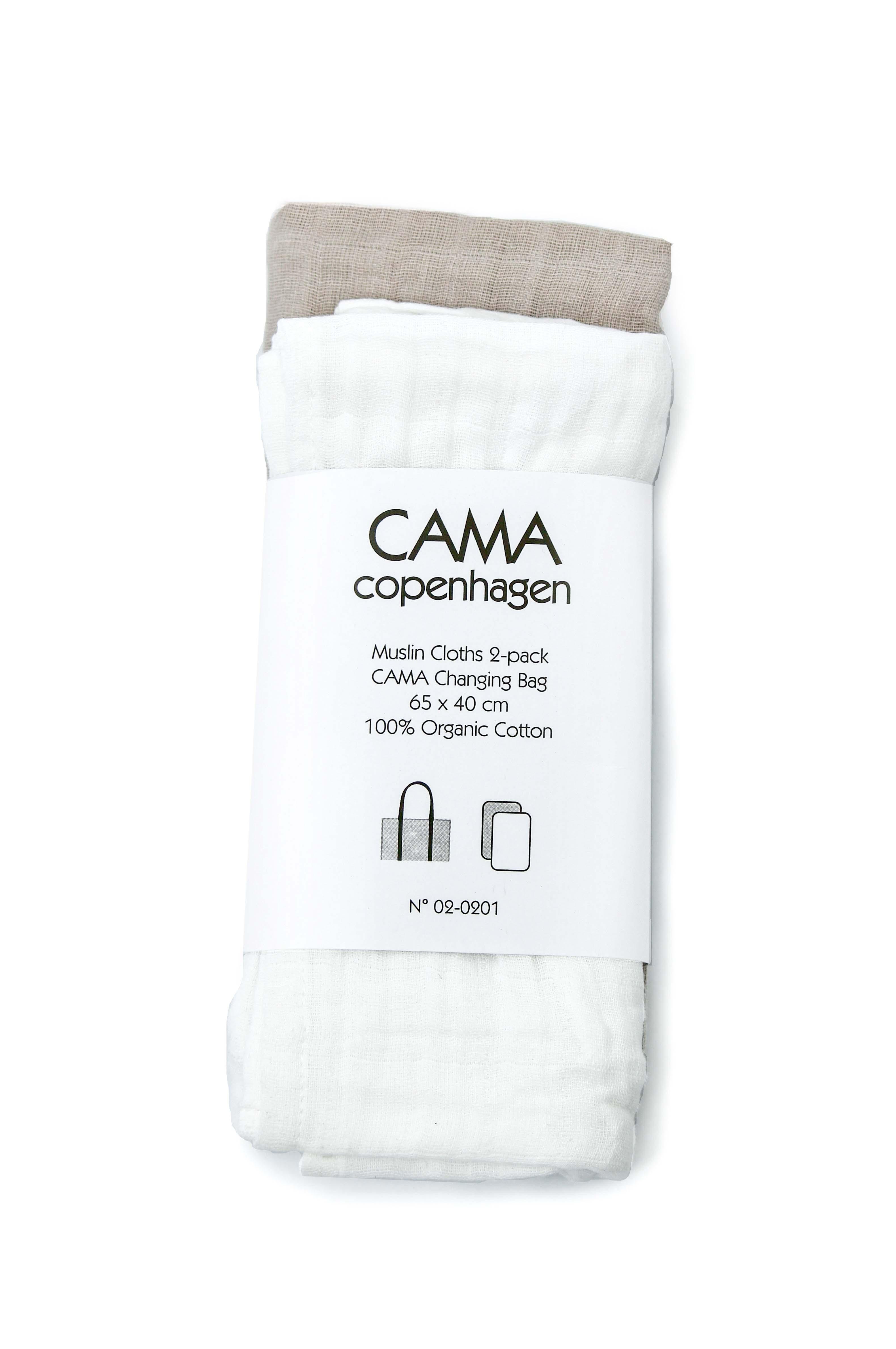 CAMA Copenhagen Skötunderlägg 2-pack - Vit/Beige