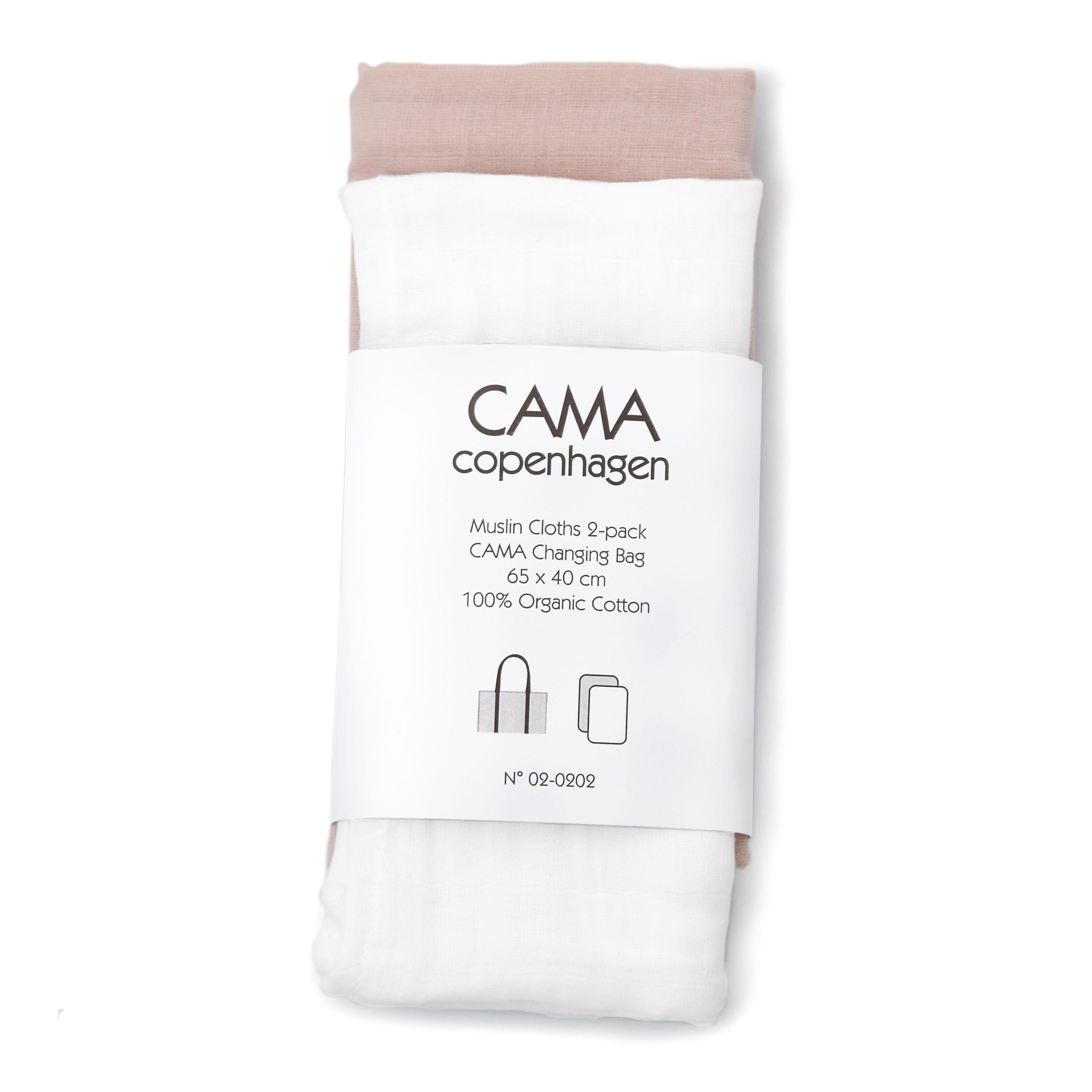 CAMA Copenhagen Skötunderlägg 2-pack - Vit/Ljusrosa