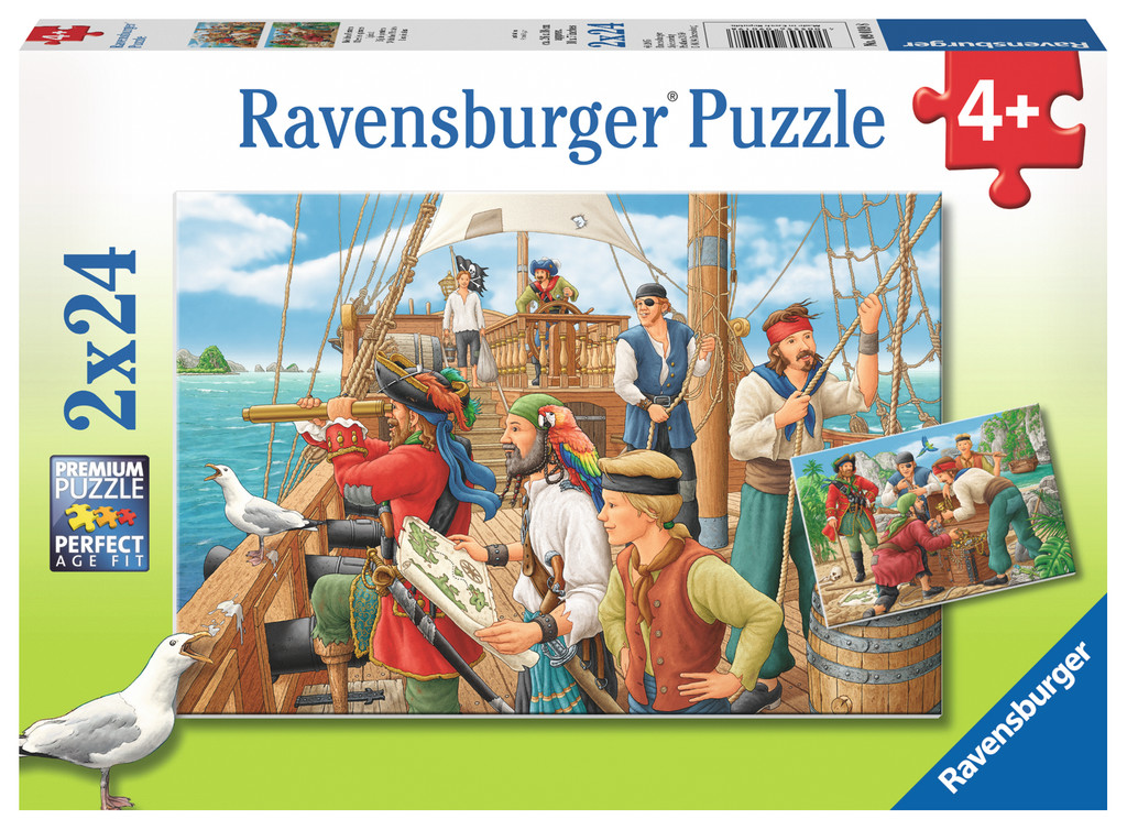 Ravensburger - with the pirates (2 x 24 pcs), 1 stk. på lager fra Ravensburger på pixizoo