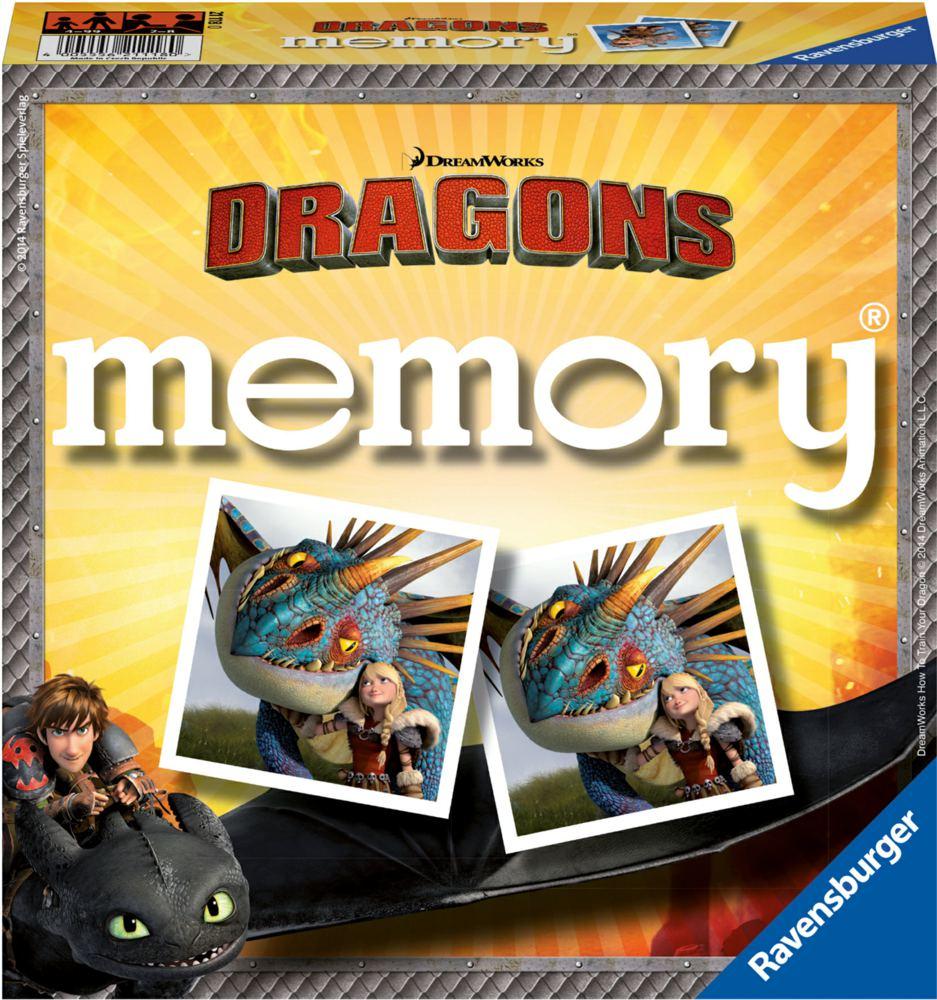 Ravensburger – Ravensburger - dragons memoryspil, 6 stk. på lager på pixizoo