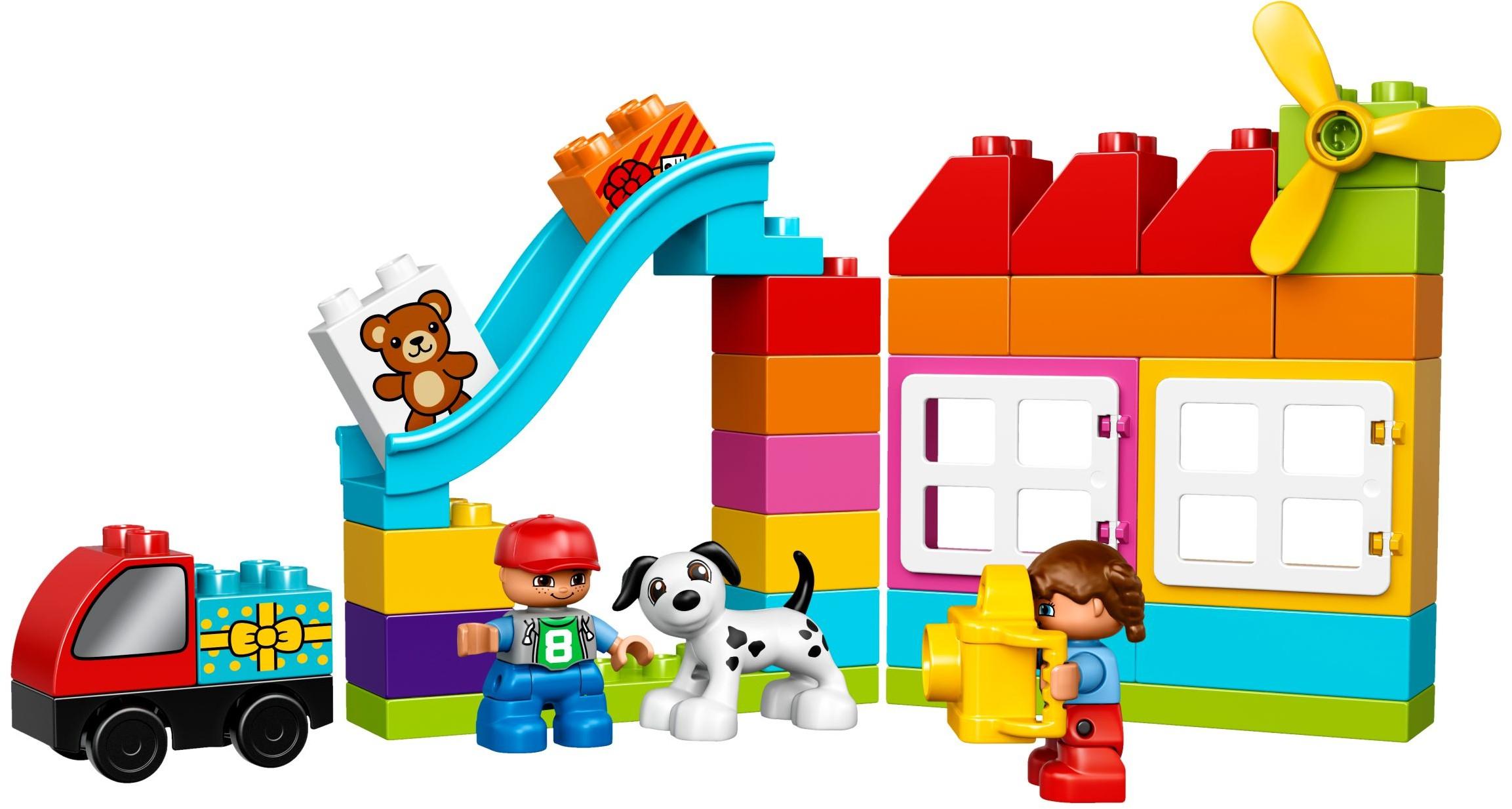 Lego duplo - creative building basket, 5 stk. på lager fra Lego duplo fra pixizoo