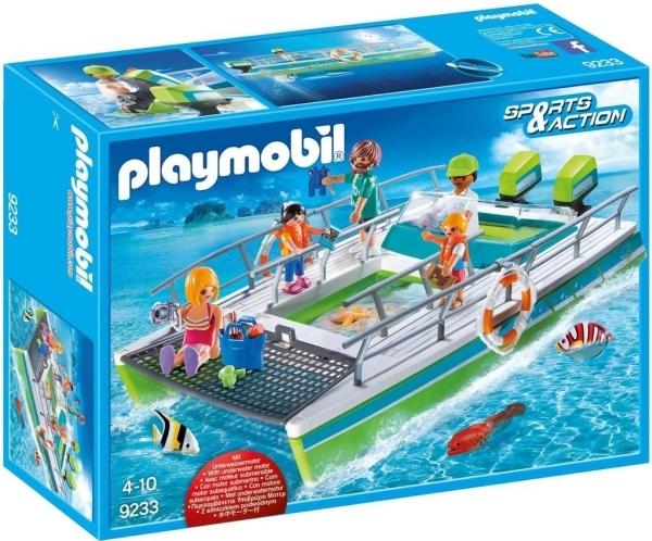 Playmobil Sports & Action (9233) Glasbottenbåt med Undervattenmotor
