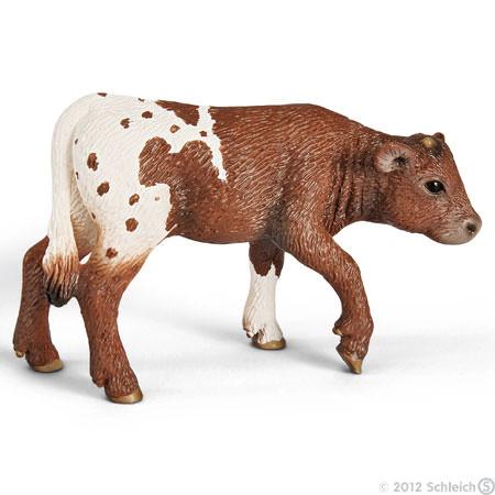 Schleich Schleich - texas longhorn kalv, 4 stk. på lager på pixizoo