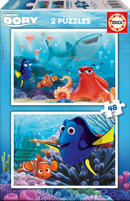 Educa 2x48 Finding Dory Pussel