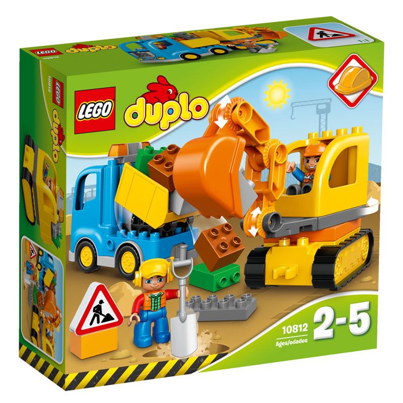 Lego duplo – Lego duplo - trucks and tracked excavator, 1 stk. på lager på pixizoo