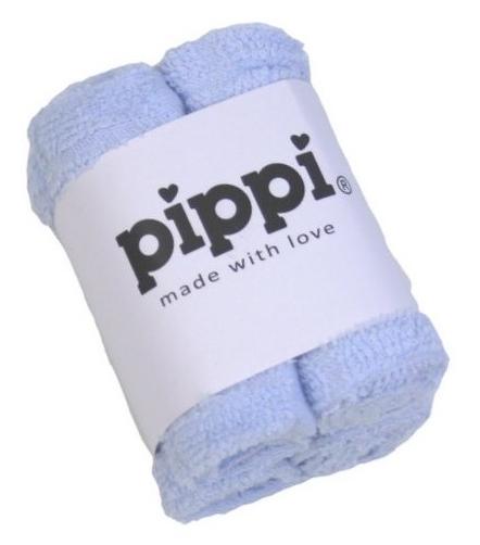 Pippi Tvättlappar 4-pack - Light Blue