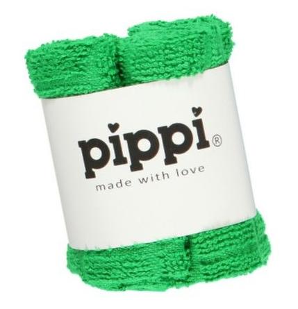Pippi Tvättlappar 4-pack - Green