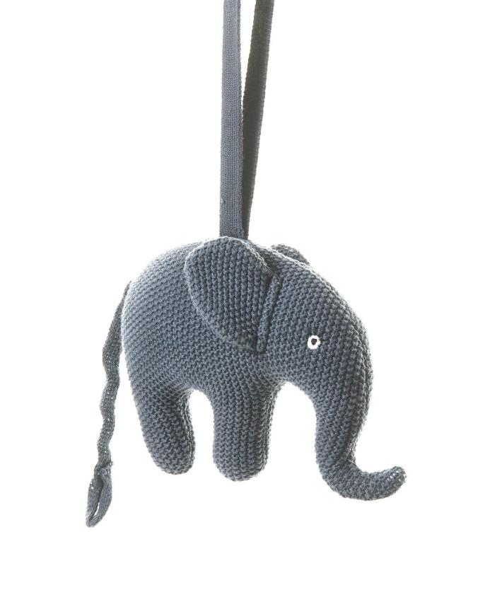 Smallstuff Musikmobil Virkad Elefant - Blå