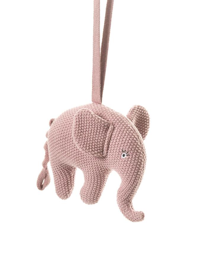 Smallstuff Musikmobil Virkad Elefant - Rosa