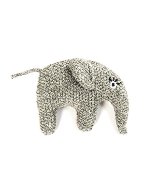 Smallstuff Stickad Skallra Elefant - Grå