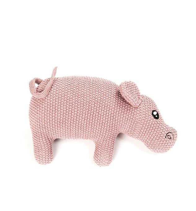 Smallstuff Gosedjur Stickad Flodhäst - Rosa