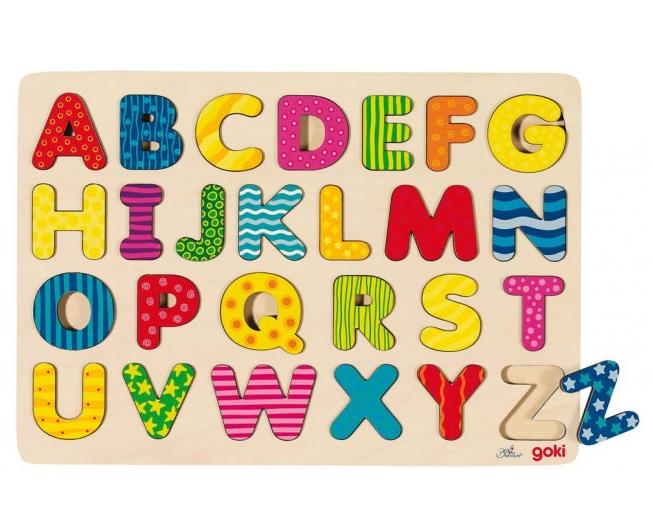 Goki Alfabetspussel - Multifärgat