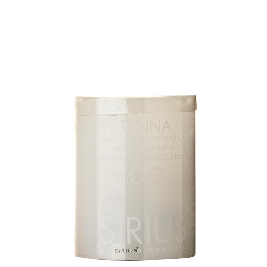 Sirius batterilys tenna - hvid ø7,5 x h10 cm., 6 stk. på lager fra Sirius på pixizoo