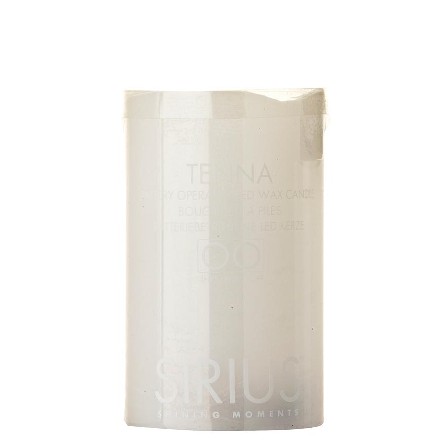 Sirius tenna batterilys - hvid ø7,5 x h10 cm., 6 stk. på lager fra Sirius fra pixizoo