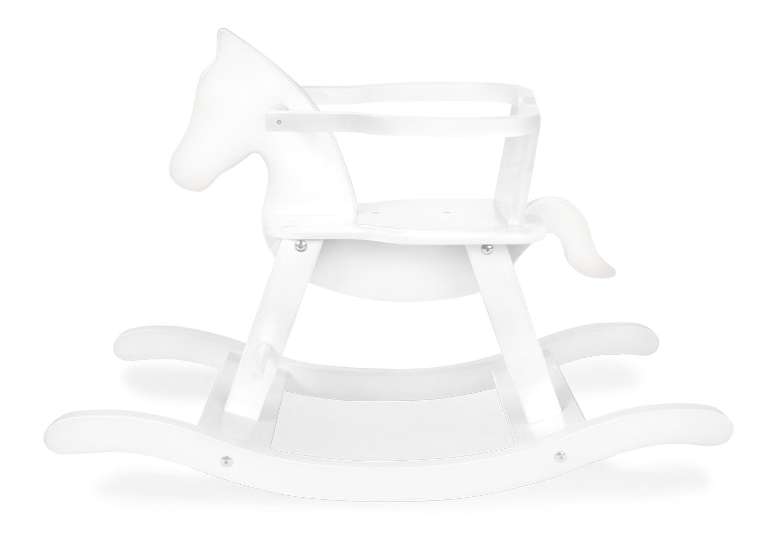 Pinolino Gyngehest med bøjle - Bøg, Hvid
