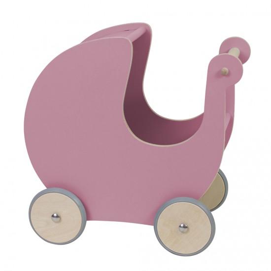 Sebra Sebra dukkevogn - mørk rosa, 1 stk. på lager fra pixizoo