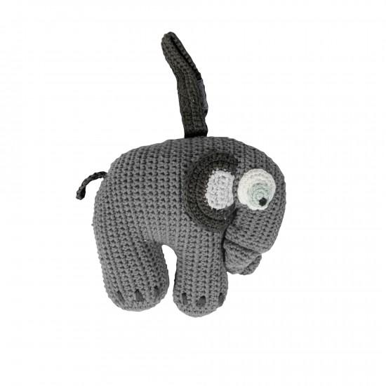 Sebra Elefant Speldosa - Grå