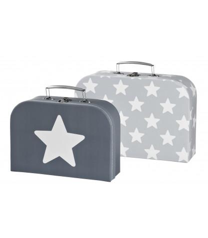 Kids concept kuffertsæt, 2 stk. - grå, 5 stk. på lager fra Kids concept fra pixizoo