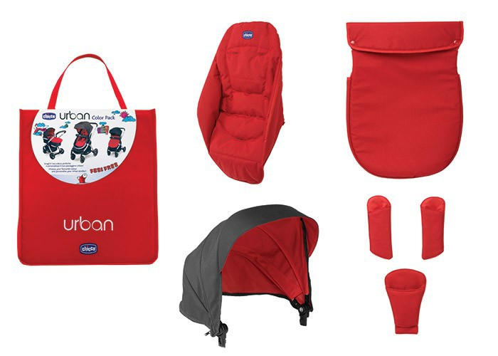 Chicco Urban Textilpaket Colourpack - Red Wave
