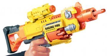 Air blaster Air blaster soft bullet gun med 20 pile - raging fire, +10 stk. på lager på pixizoo