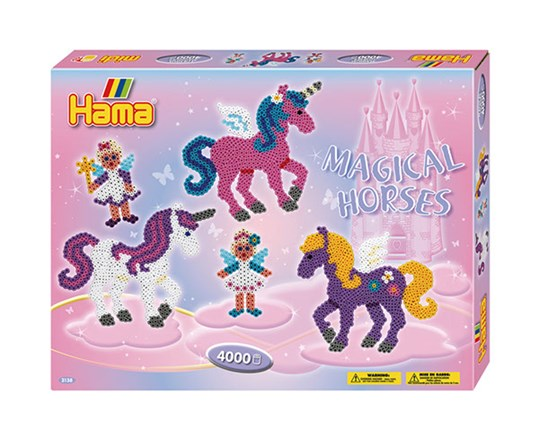Hama Hama gaveæske - magical horses / 14, 1 stk. på lager på pixizoo