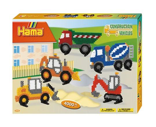 Hama – Hama midi gaveæske construction vehicles /15 diverse, 2 stk. på lager på pixizoo