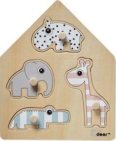 Done by deer  peg puzzle, deer friends , 4 stk. på lager fra Done by deer fra pixizoo