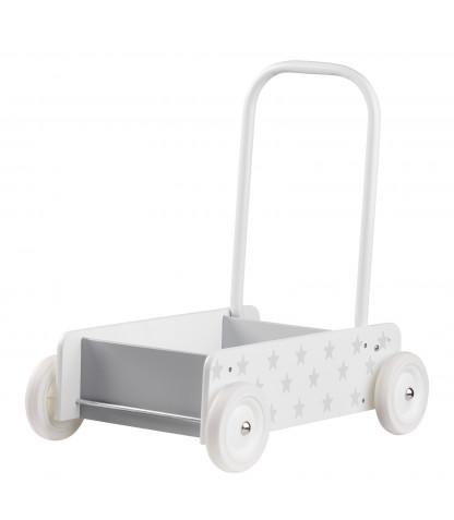 Kids Concept Lära-gå vagn Star - Vit/Grå