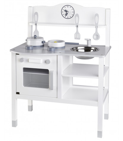 Kids concept legekøkken - hvid/grå, 2 stk. på lager fra Kids concept på pixizoo