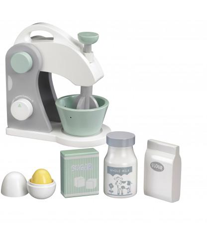 Kids concept – Kids concept røremaskinesæt - hvid/grå/mint, 3 stk. på lager på pixizoo