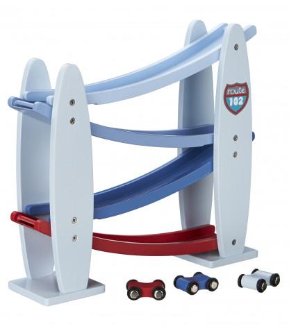 Kids concept – Kids concept bilbane - blå , 6 stk. på lager fra pixizoo