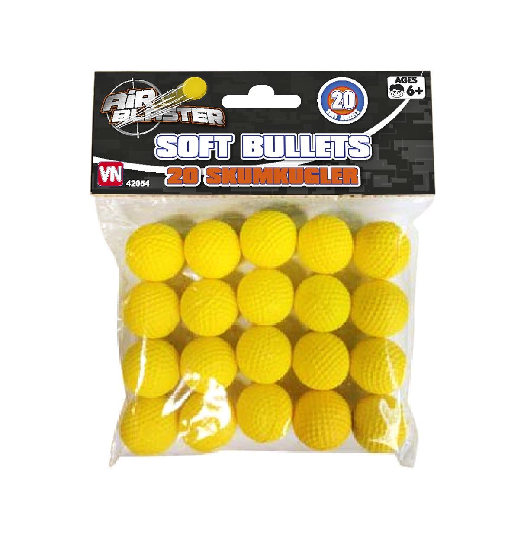 Air Blaster Skumkulor Bullet Blast 20-pack