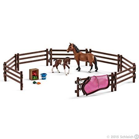 Schleich – Schleich - hestefold, 2 stk. på lager på pixizoo