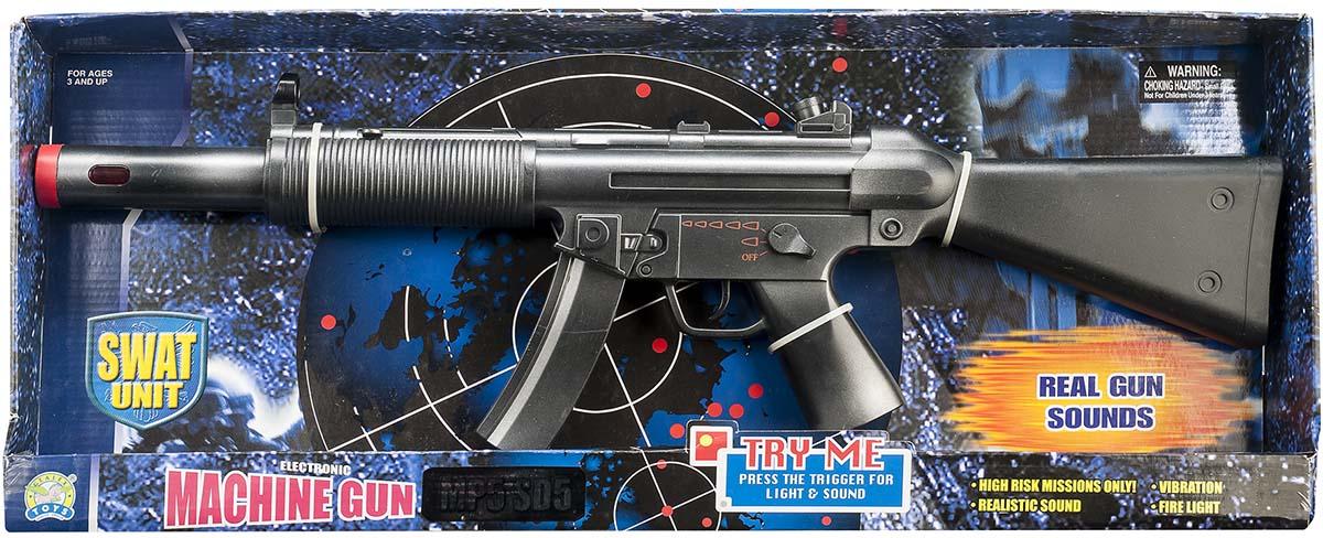 Gunman Mp5 maskingevær med ryst og lys, +10 stk. på lager på pixizoo