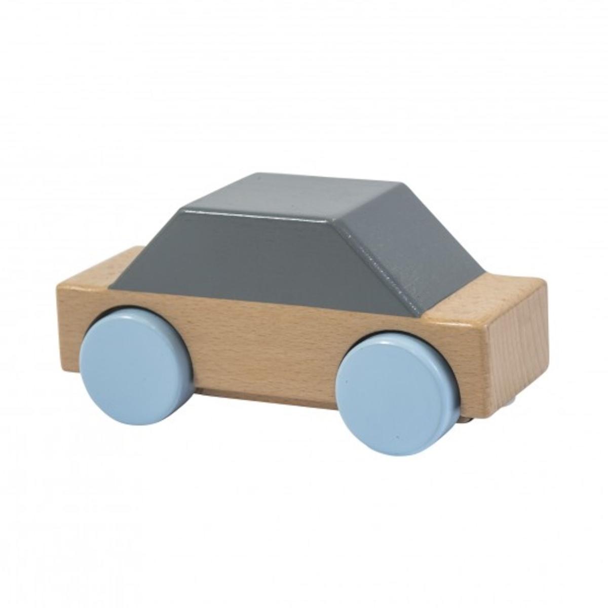 Sebra Bil i Trä - Grå