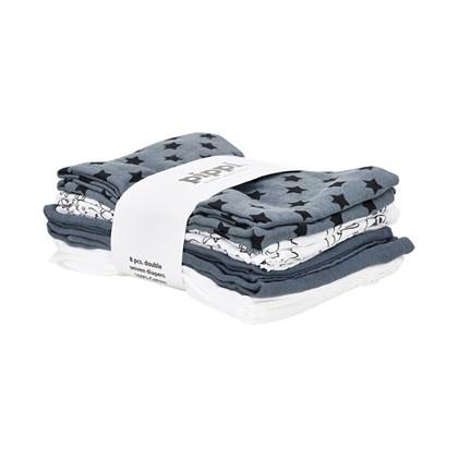 Pippi – Offwhite stofbleer 8-pak 70 x70 cm - pippi, +10 stk. på lager på pixizoo