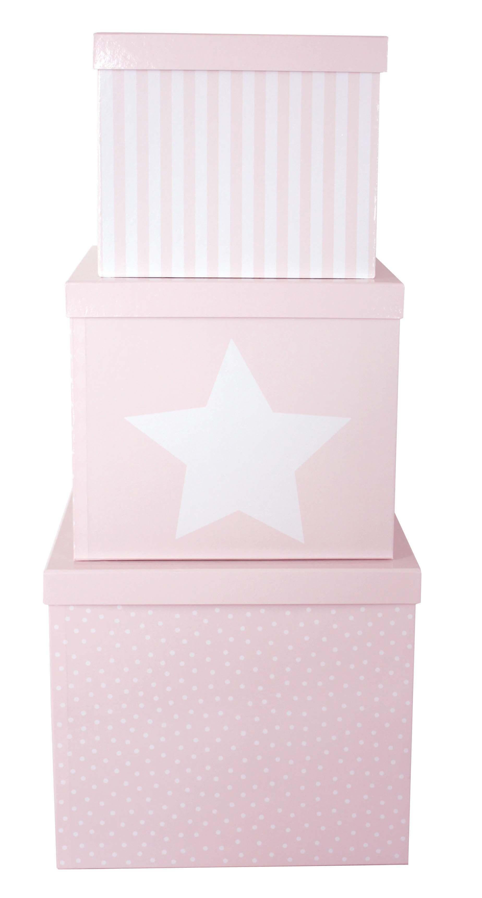 JaBaDaBaDo Förvaringsbox 3-pack - Rosa
