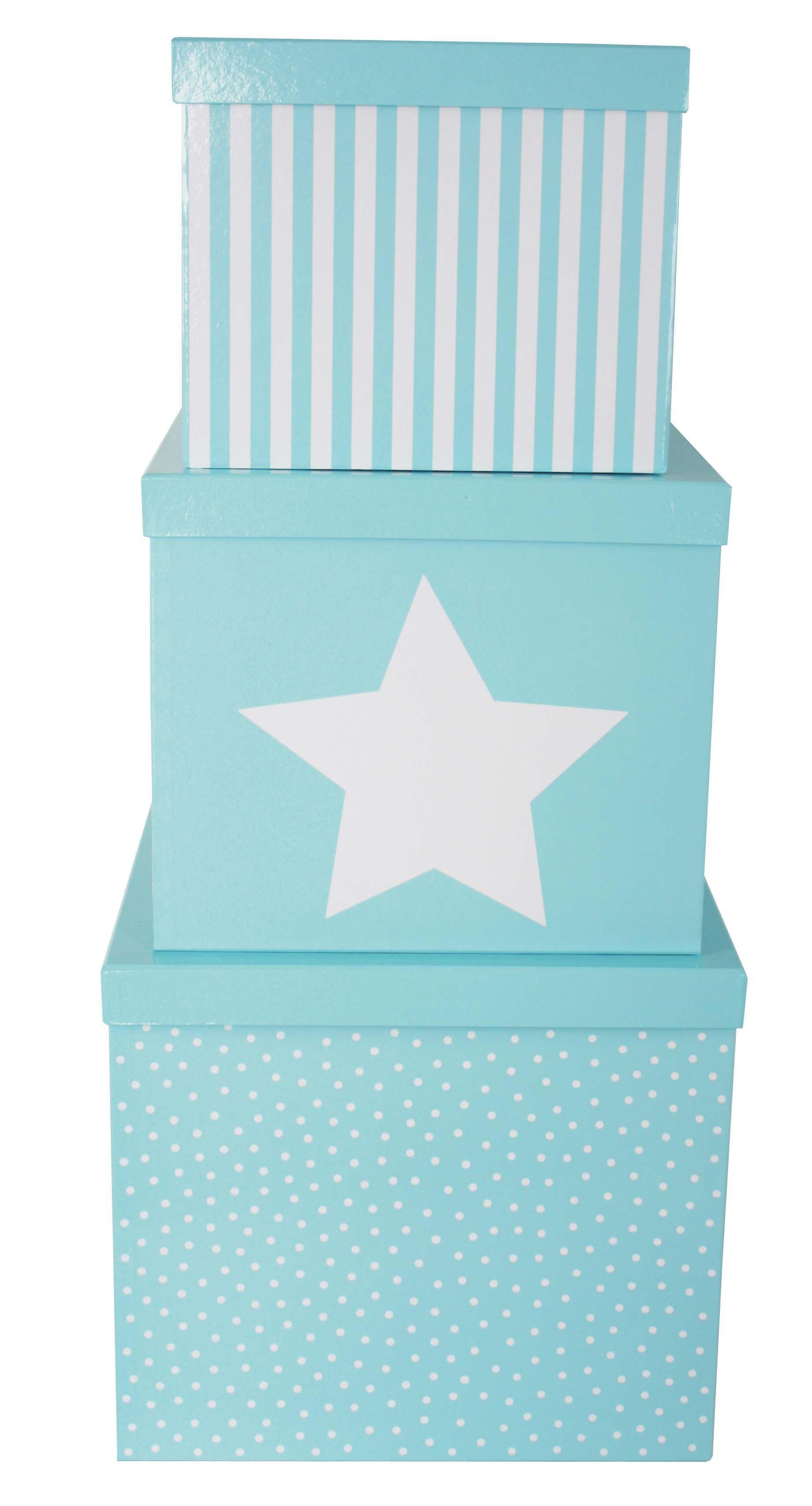 JaBaDaBaDo Förvaringsbox 3-pack - Blå
