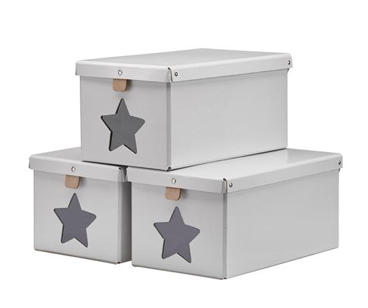 Kids Concept Förvaringslådor 3-pack - Grå