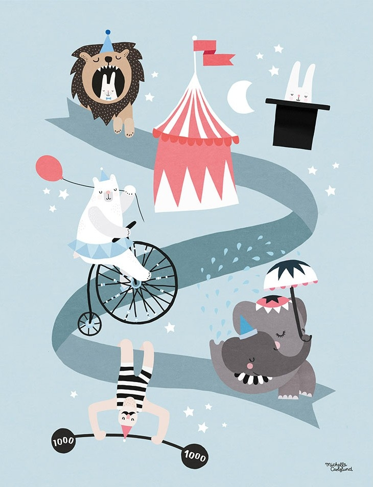 Michelle Carlslund Plakat 50 x 70 - Cirkus Vänner